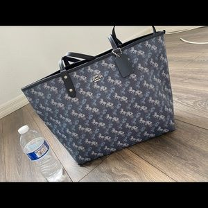 coach Reversible Tote With Horse And Carriage